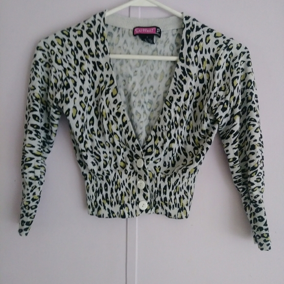 Say What? Other - Animal Print Cardigan